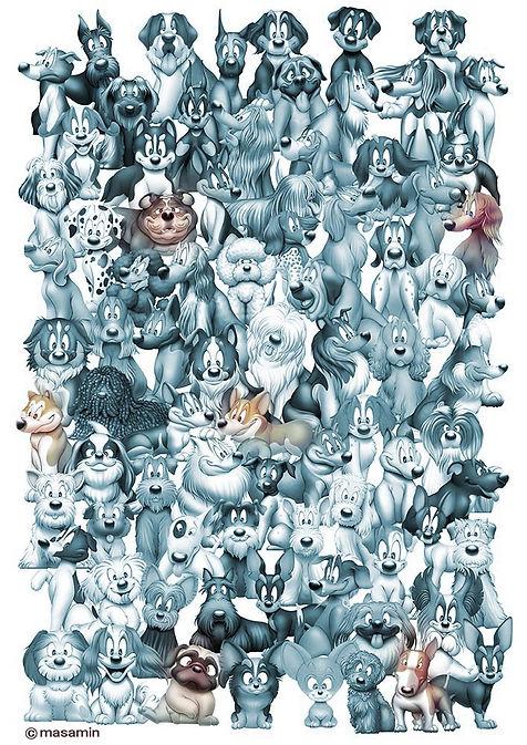 犬イラスト マサミン masamin dog  犬の絵
