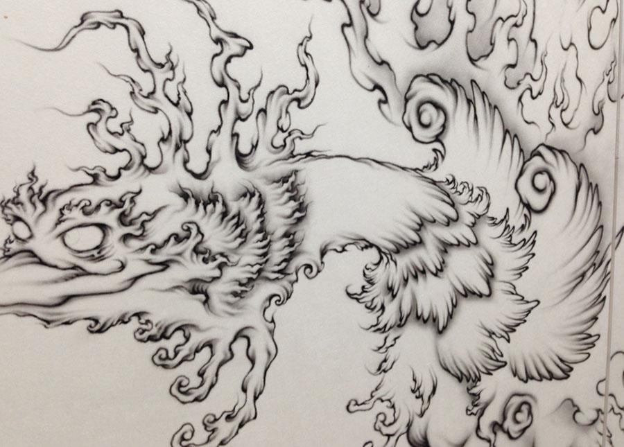 四神獣:朱雀