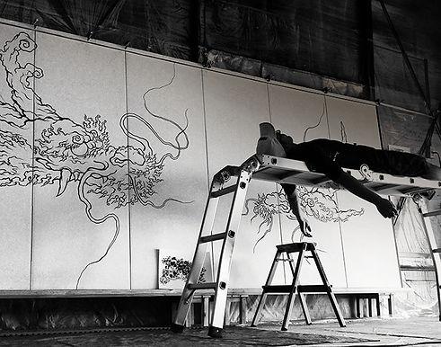 龍の絵 絵獅匡 エアブラシアート airbrush art eshimasa eshi-masa
