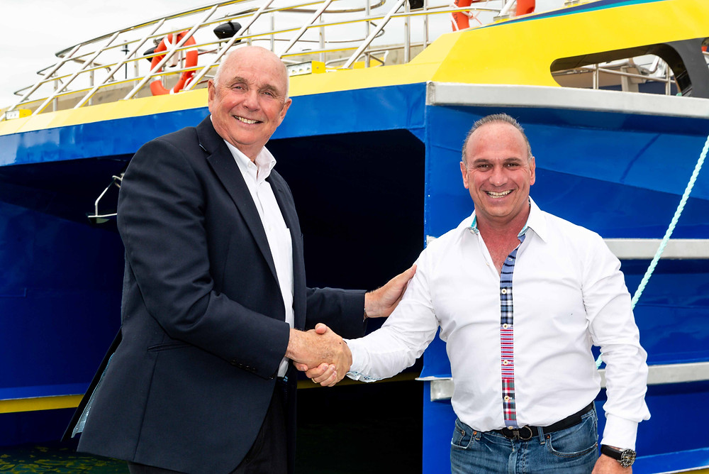 Peter Morton CEO Wight Shipyards, Mauricio Orozco Ultramar
