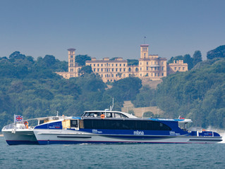 New passenger ferry leaves the Isle of Wight to sail 200 nautical miles to London