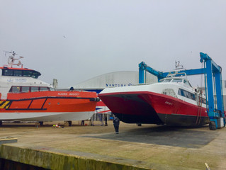 Wight Shipyard Co refits Red Funnel  high speed passenger catamaran