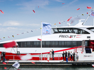 HRH Duchess of Cornwall names Red Jet 7