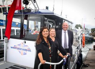 Wight Shipyard Co hybrid patrol vessel  Big Reveal at Seawork 2019