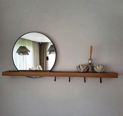 Entrance Hooks and Mirror