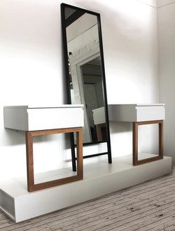 Bedside Table and Mirror