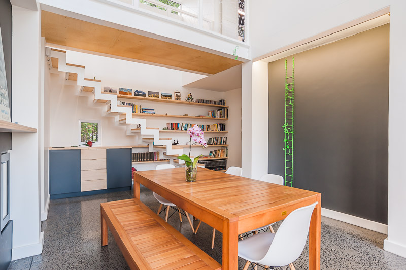 Staircase and Storage unit
