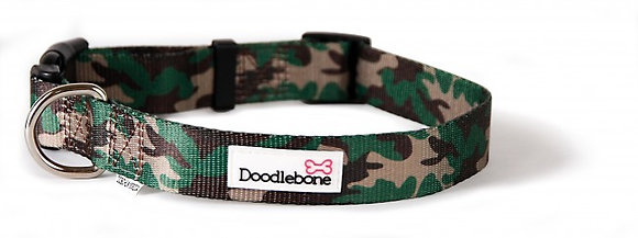Doodlebone Bold Pattern Collar in Camo