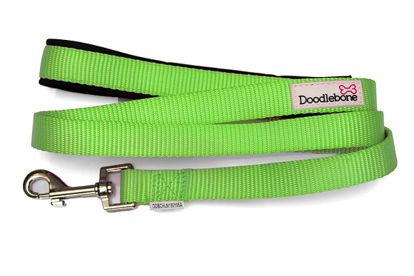 Doodlebone Bold Padded Dog Lead in Green
