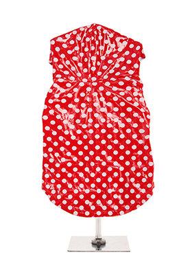 Urban Pup Carnaby Polka Dot Hooded Waterproof Raincoat - Red