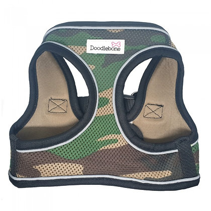 Doodlebone Snappy Dog Harness in Camo