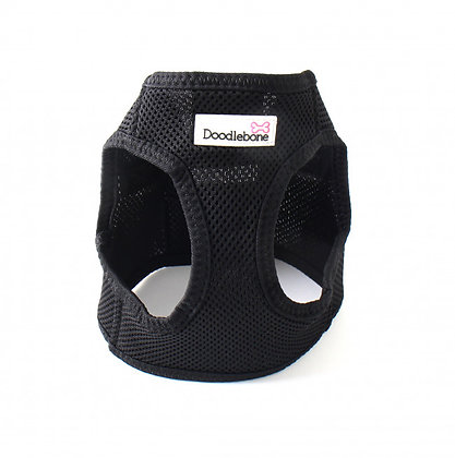 Doodlebone Snappy Dog  Harness in Black