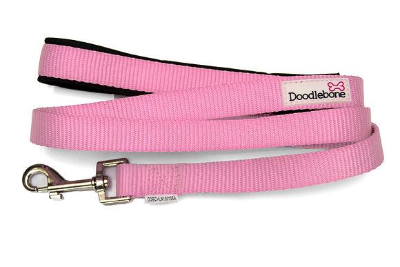 Doodlebone Bold Padded Dog Lead in Light Pink