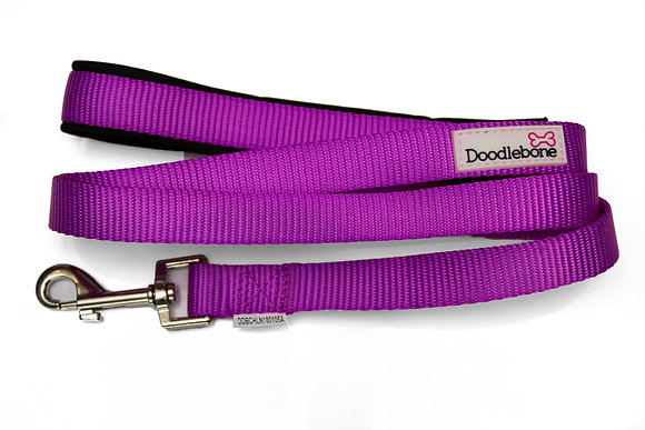 Doodlebone Bold Padded Dog Lead in Purple