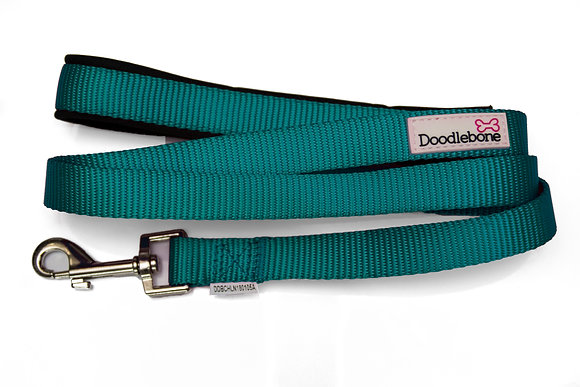 Doodlebone Bold Padded Dog Lead in Teal