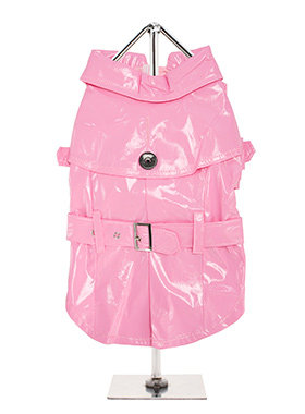 Urban Pup Kensington Waterproof Trench Coat - Pink