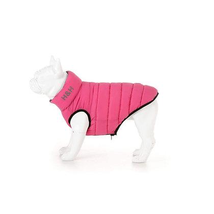 Hugo and Hudson Puffer Jacket in Pink/Grey