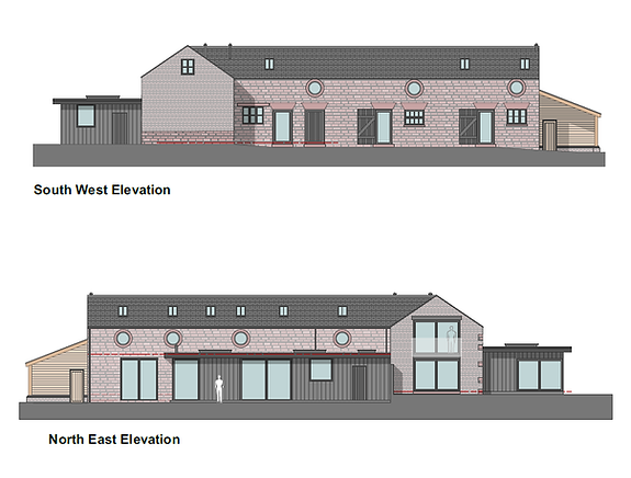 Side-Barn-conversion-new house-elevation