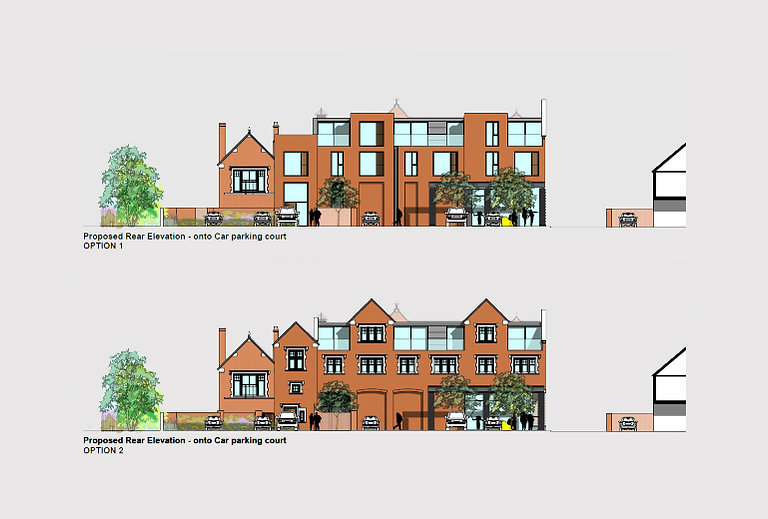 Architects chester mixed use rebuild alt