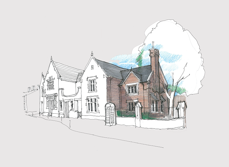 Architect Chester Mixed use cottage sket