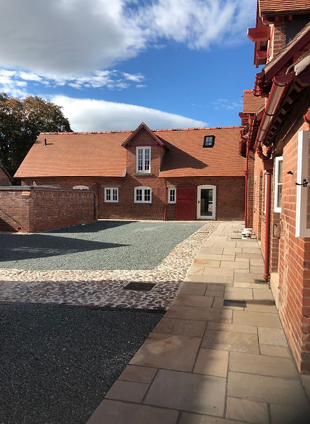Architect Chester barn conversion courty