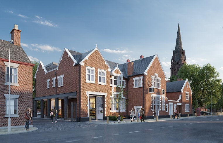 Architects chester mixed use rebuild  fr
