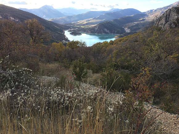 On Plekje, Lac de Castillon.Castelane