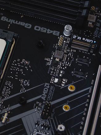 AMD processor close-up