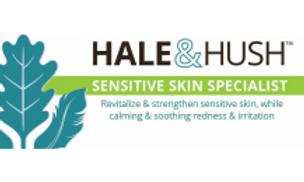 Hale & Hush Sensitive skin specialist. Revitalize & strengthen sensitive skin, while calming & soothing redness & irritation.