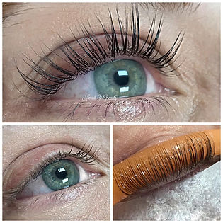 Lash lift and tint, before and after