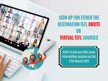 Whether you want to teach online or abroad, Destination TEFL has the perfect solution for you.