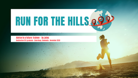 Run for the hills. As fast as you can.