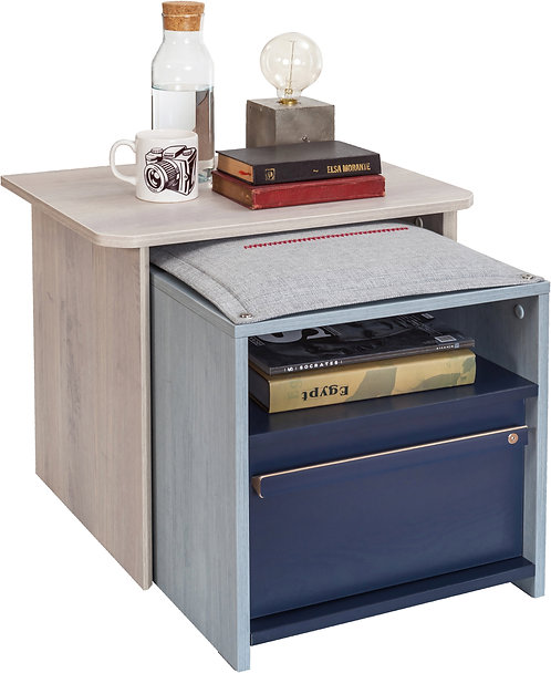 Trio Nightstand With Shelf