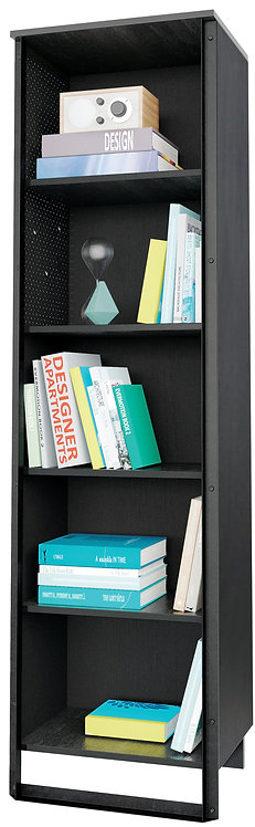 Dark Metal Bookcase