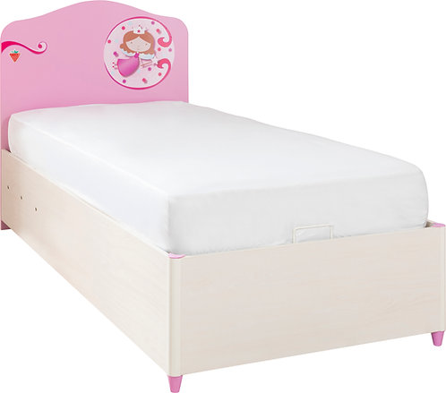 Princess Bed With Base (90X190 cm)