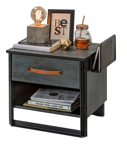 Dark Metal Nightstand