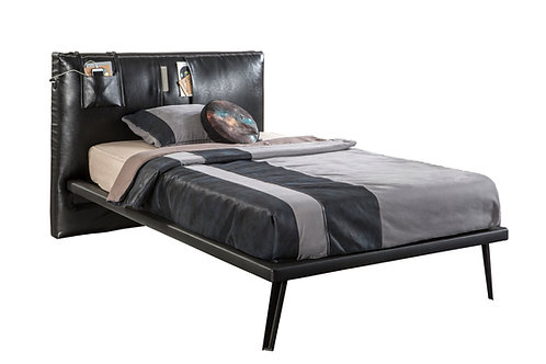 Dark Metal Bed (XL-120X200 cm) (Pullout Optional)