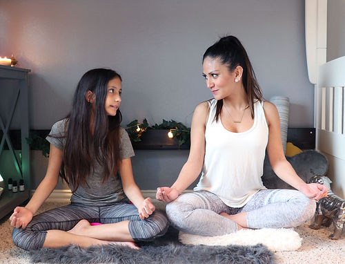 Mother and Daughter Meditating | Marketing Coach