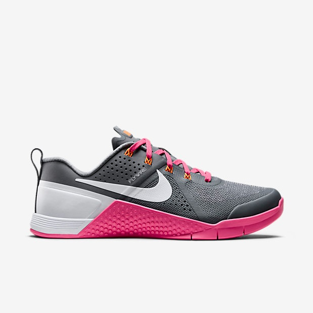 Nike Metcon 1 - Cool Grey, Pink Pow, Bright Citrus, White (813101-004)