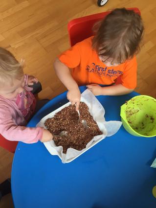 Making healthy snacks