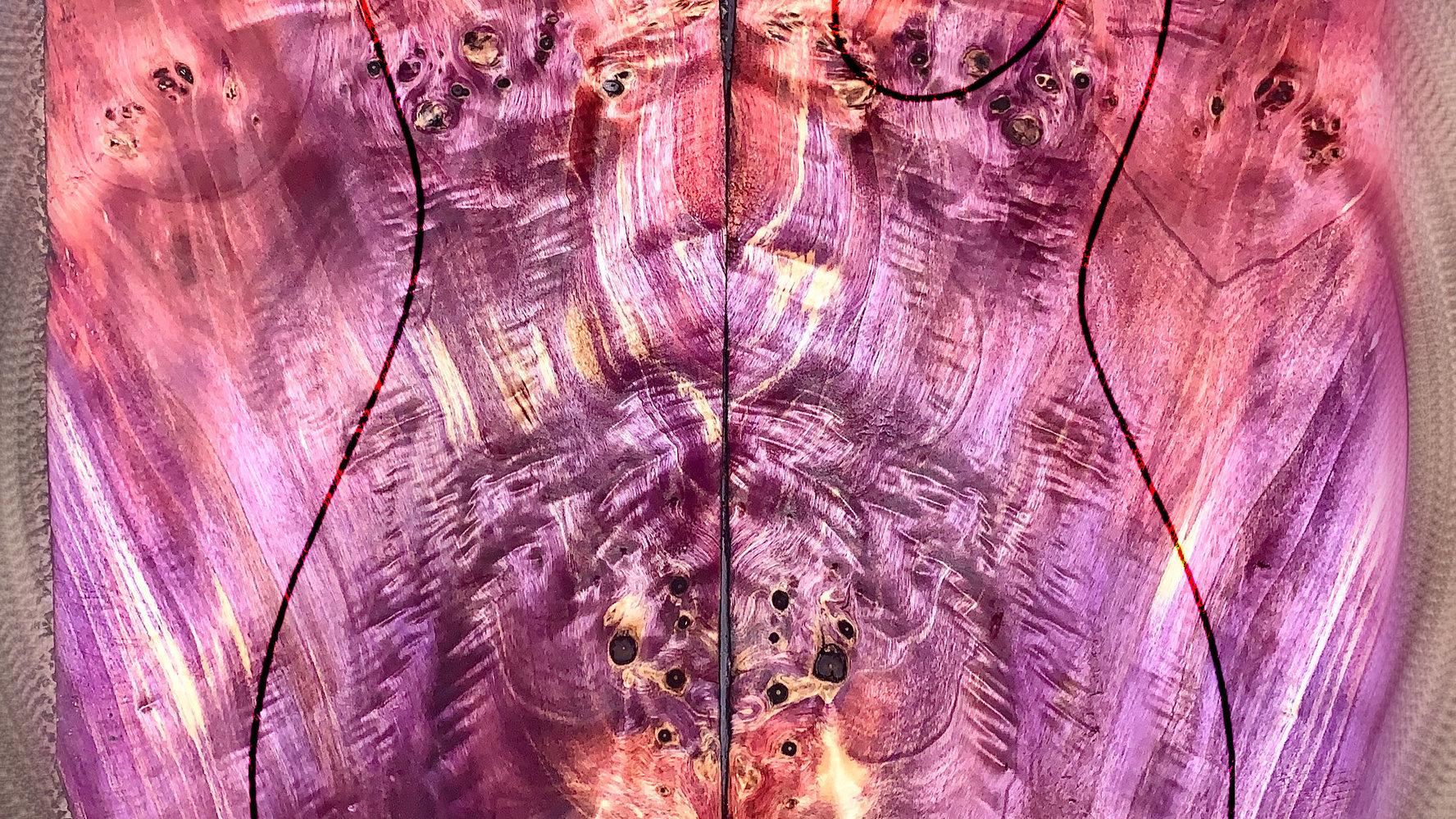 Colored Poplar Burl