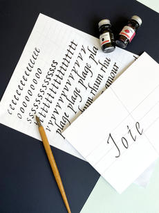 Calligraphie à la plume