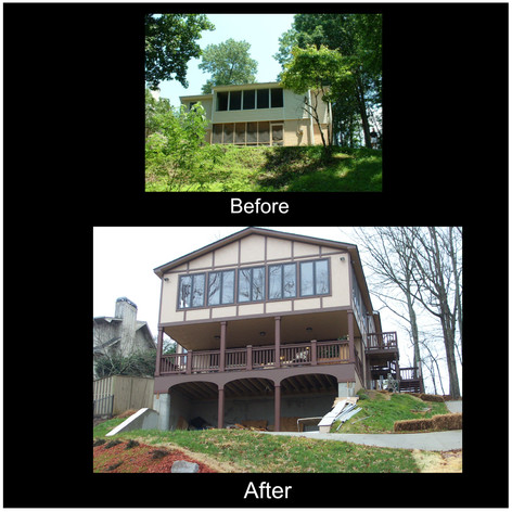 Lake House remodel addition