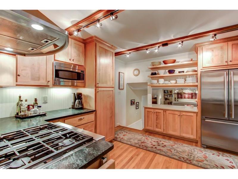 Kitchen remodel Soapstone countertops, Maple Cabinets
