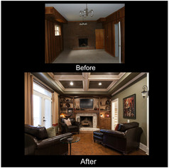 Before and After Walkout Basement
