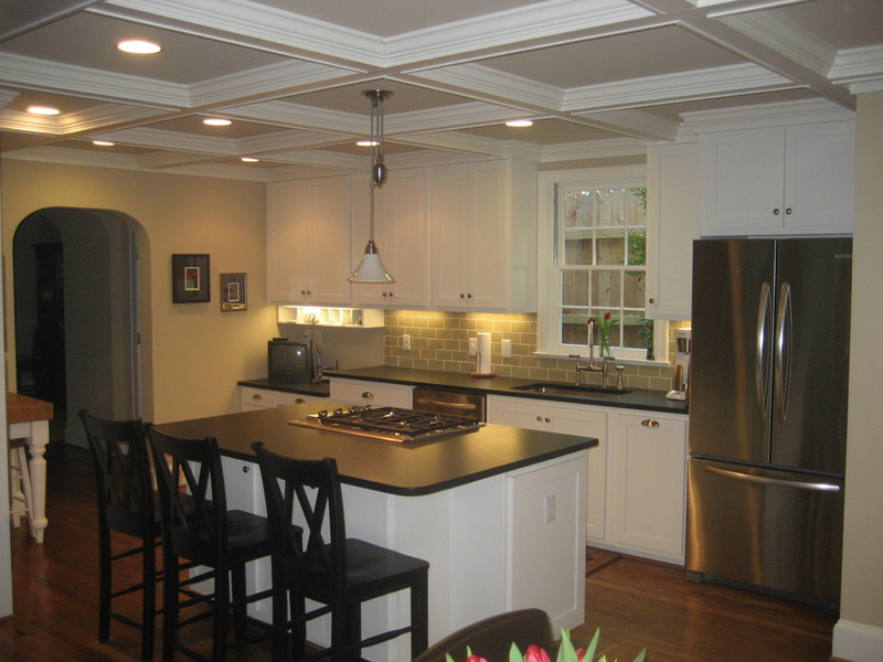 Kitchen Remodel Coffered ceiling
