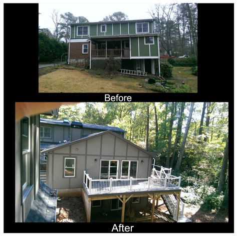 Before And After Addition over basement