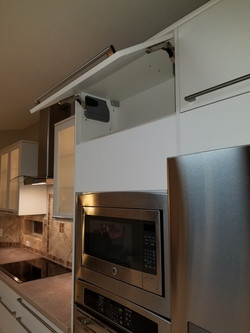 Contemporary cabinets with flap door