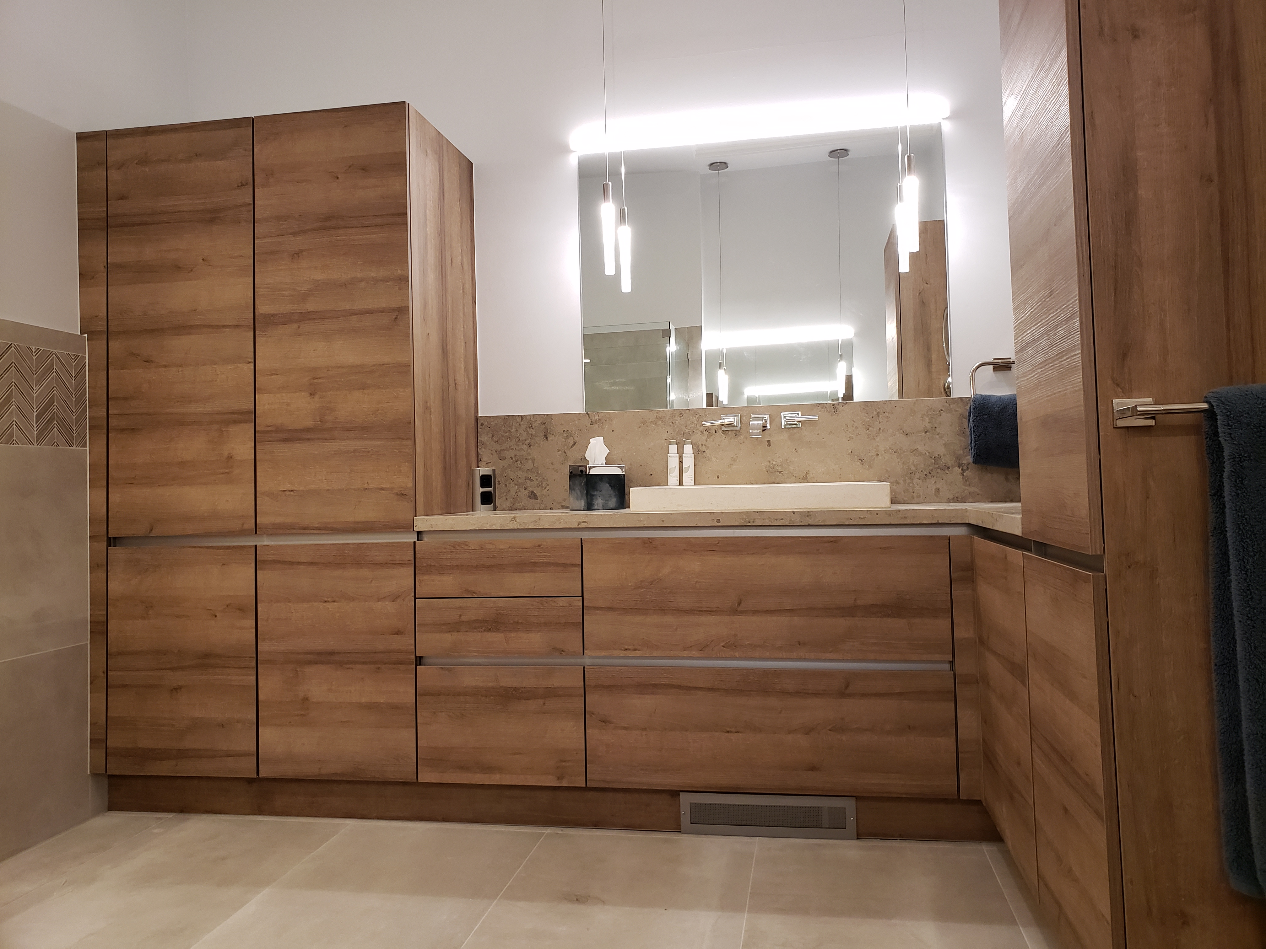 Custom Vanities & High Cabinets