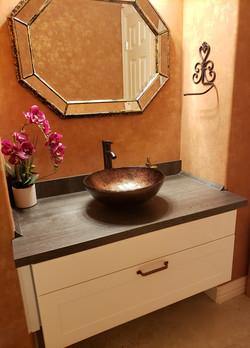 vanity in a powder room, Katy/Texas